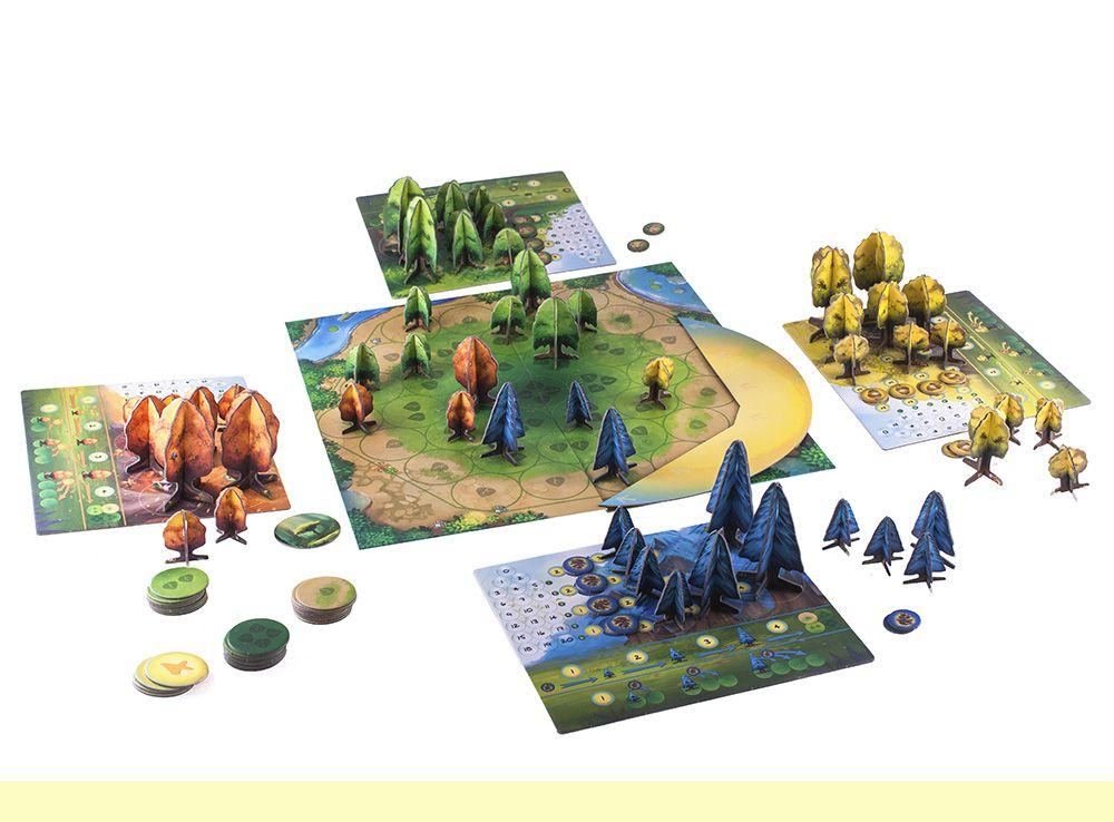 В процессе игры на столе перед вами вырастет большой лес. Настольная игра Фотосинтез (Photosynthesis)