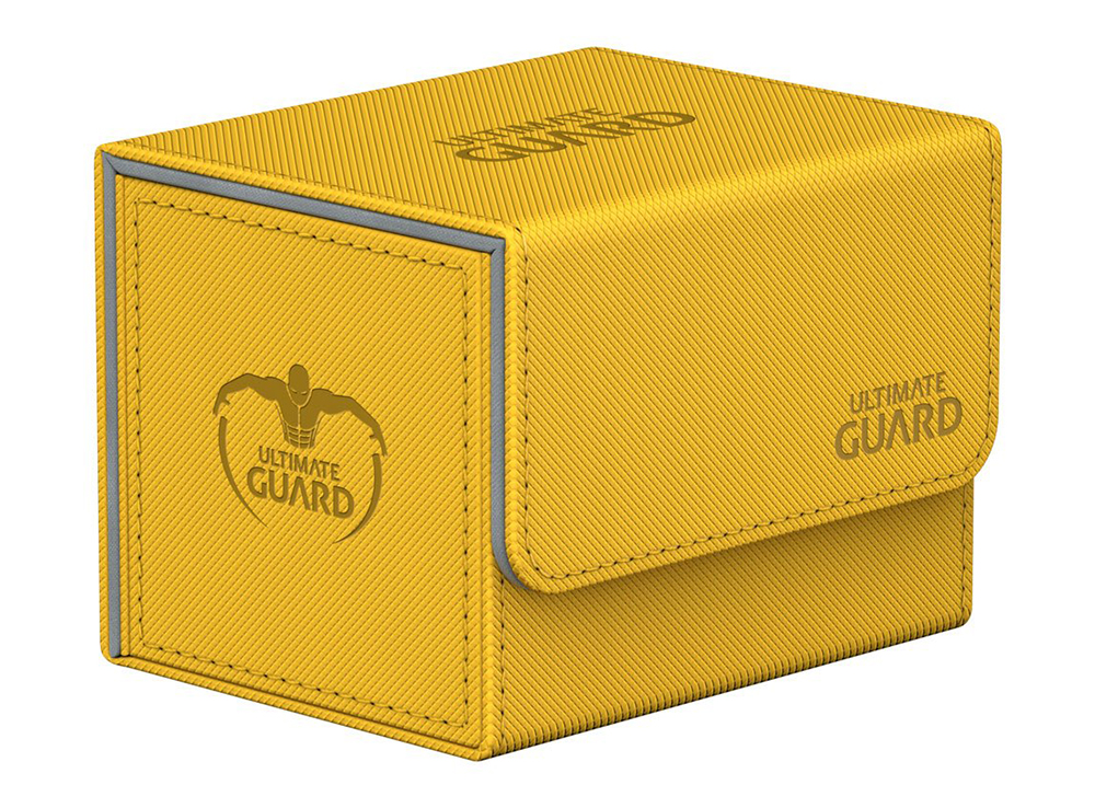 Коробочка Ultimate Guard с бок. загрузкой XenoSkin жёлтая (100 карт)