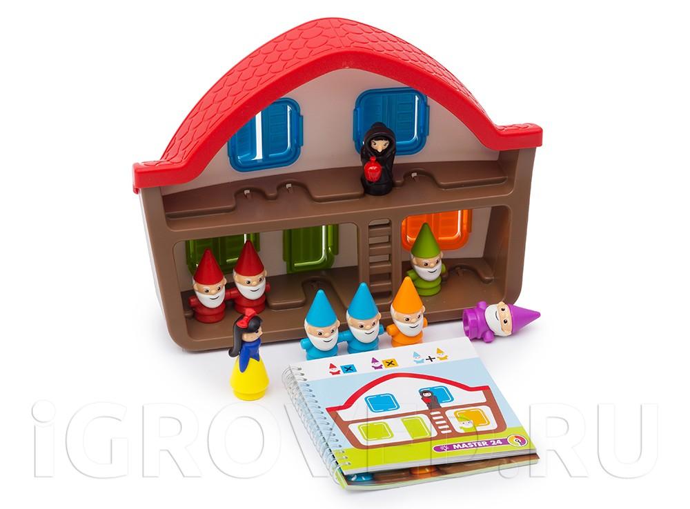 3D домик, 7 гномов, Белоснежка, Злая королева, буклет с 48 заданиями и иллюстрированная книга