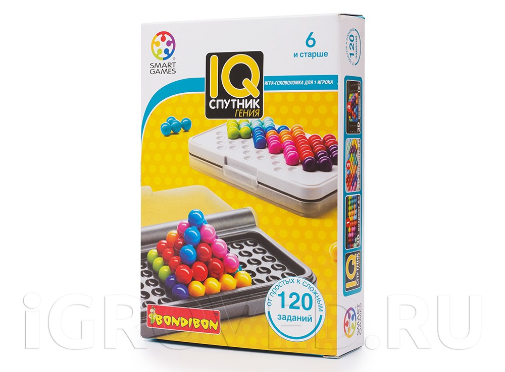 Коробка настольной игры IQ-Спутник гения