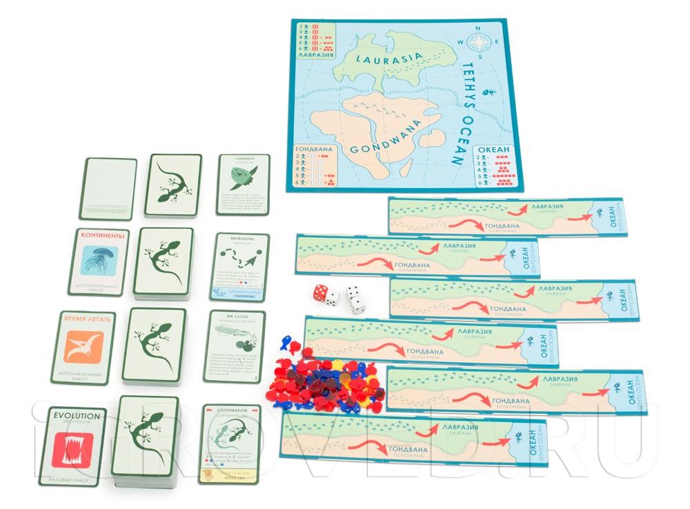 Игровой процесс настольной игры Эволюция. Континенты (дополнение)