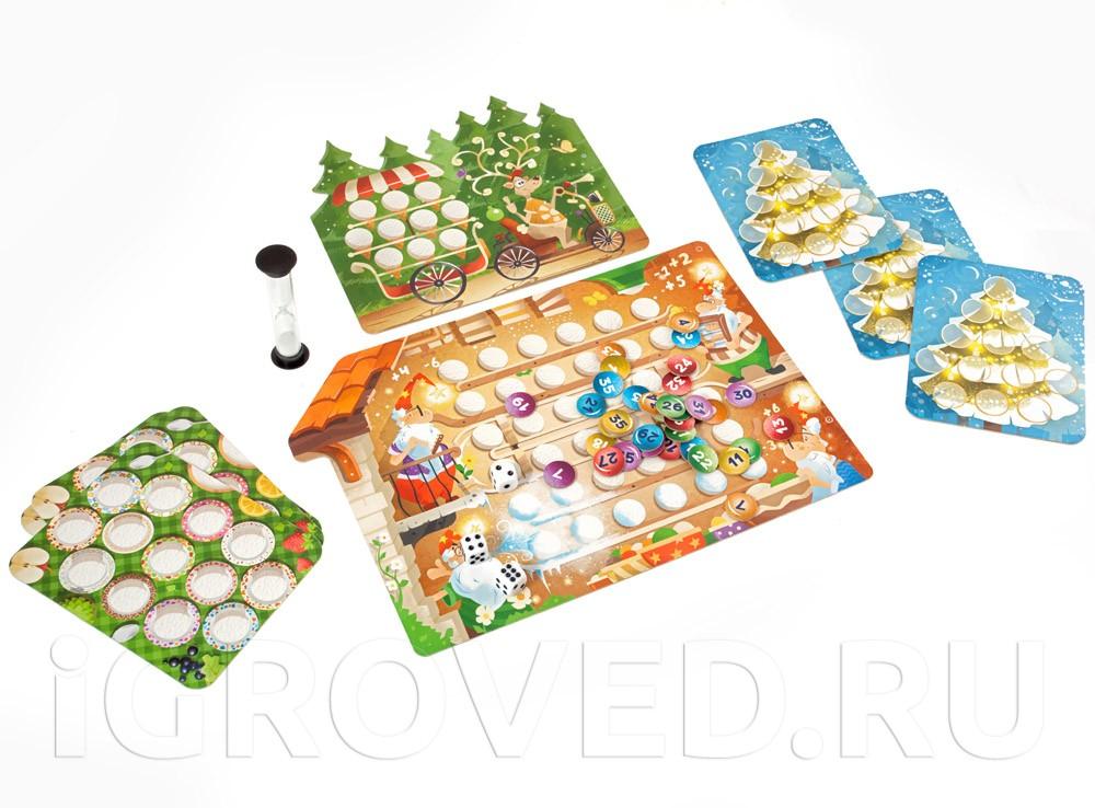Игровой процесс настольной игры Морозные каникулы