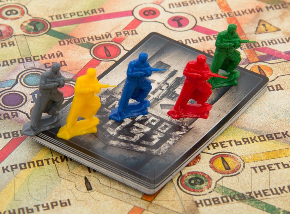Компоненты настольной игры Метро 2033 (2-ое издание)