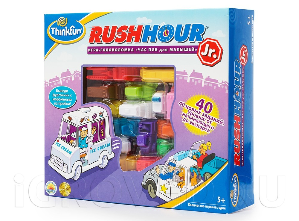 Коробка настольной игры-головоломки Час  Пик  для малышей
