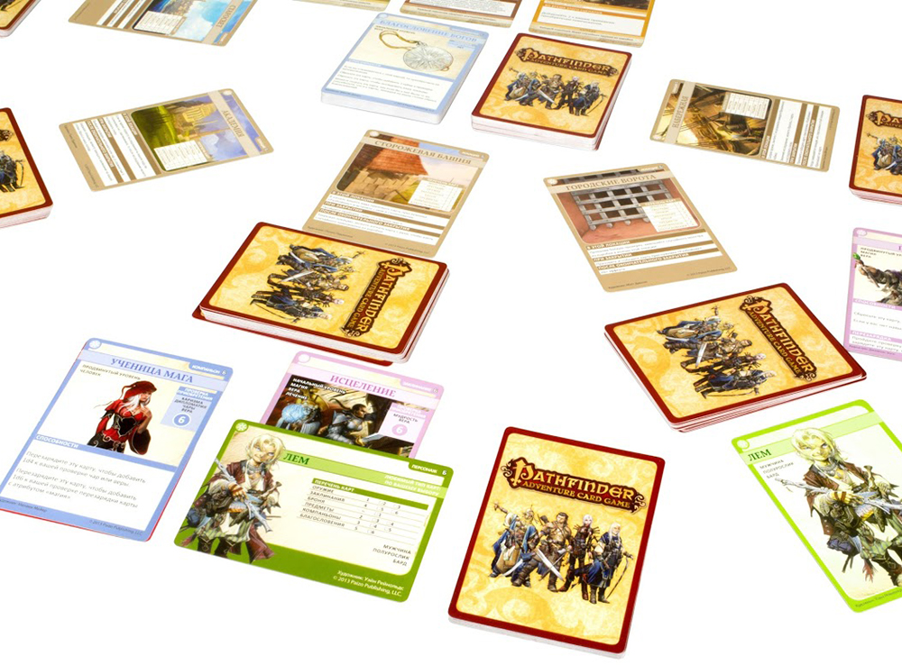 Карточки настольной игры Pathfinder. Возвращение Рунных Властителей