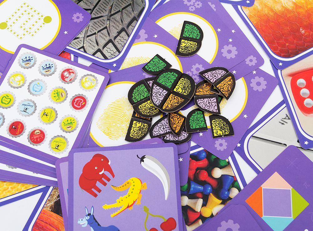 Компоненты настольной игры Кортекс 2 для детей