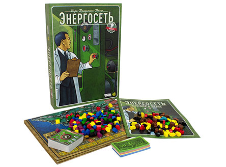 Коробка настольной игры Энергосеть
