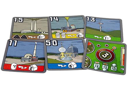 Карты электростанций настольной игры Энергосеть