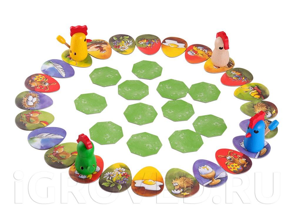Игровой процесс настольной игры Цыплячьи бега (Zicke Zacke Huhnerkacke)