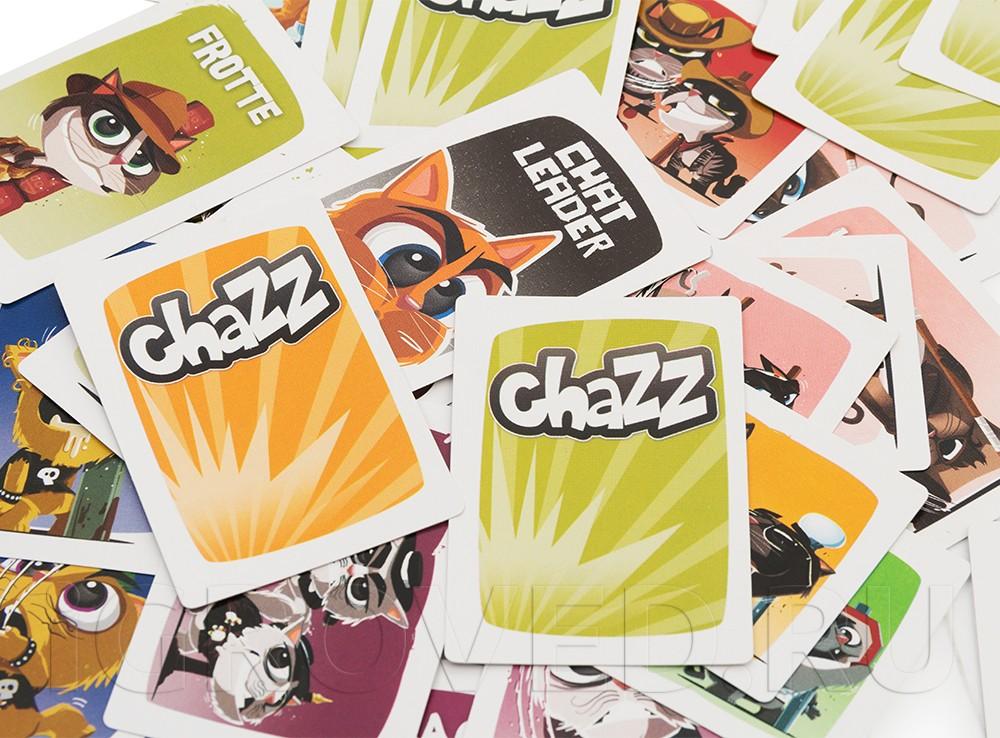 Компоненты настольной игры Шустрые коты (Chazz)