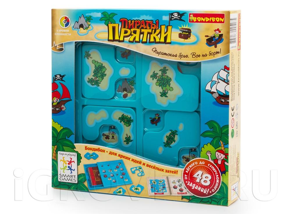 Коробка настольной игры-головоломки Пираты Прятки