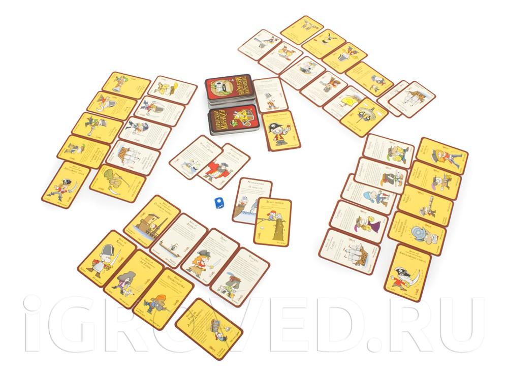 Игровой процесс настольной игры Пиратский Манчкин