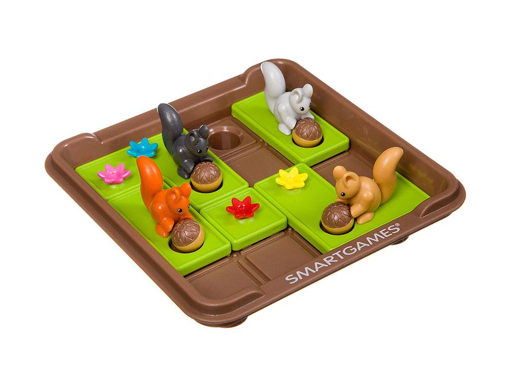Компоненты настольной игры-головоломки Запасливые белки