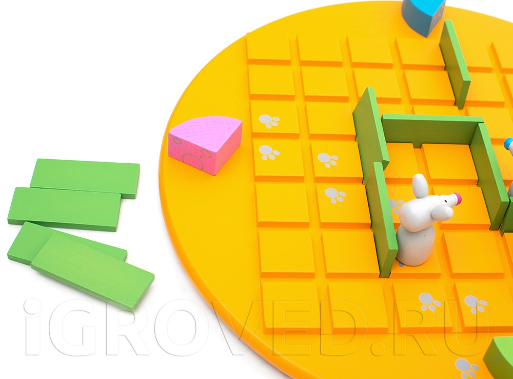 Игровой процесс настольной игры Коридор для детей (Quoridor Kid)