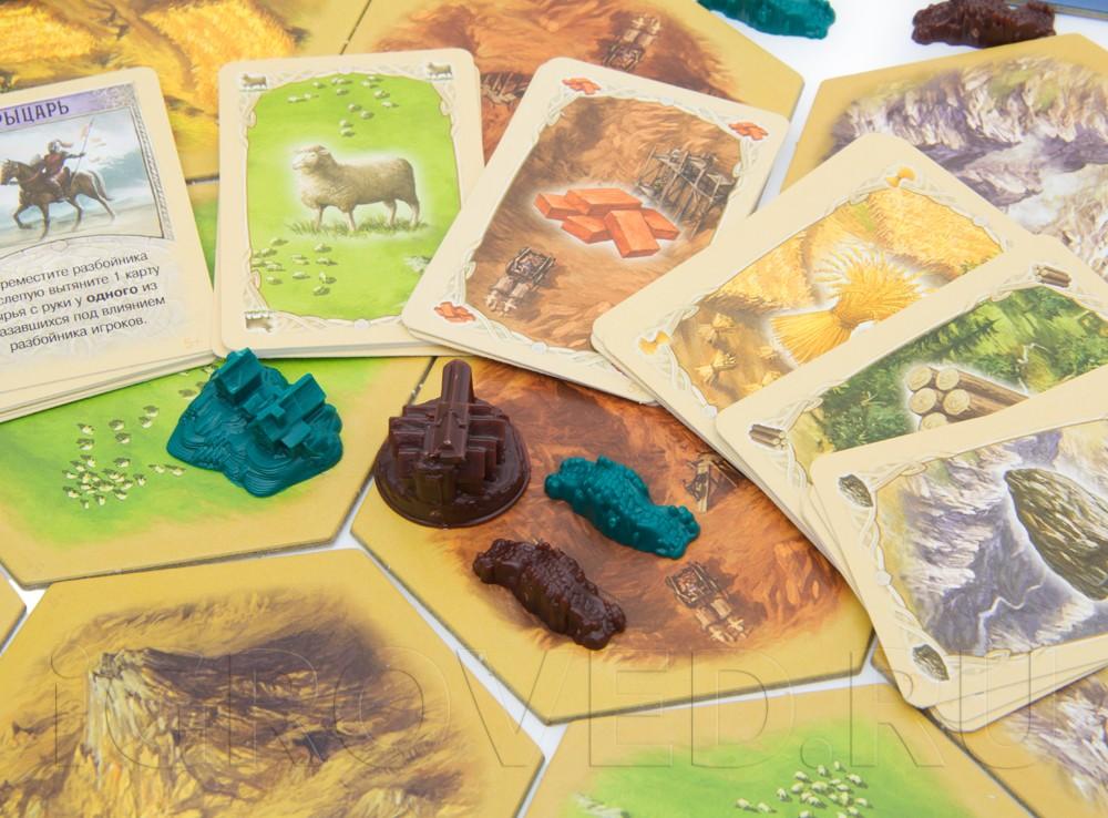 Компоненты настольной игры Колонизаторы. Расширение для 5-6 игроков (дополнение)