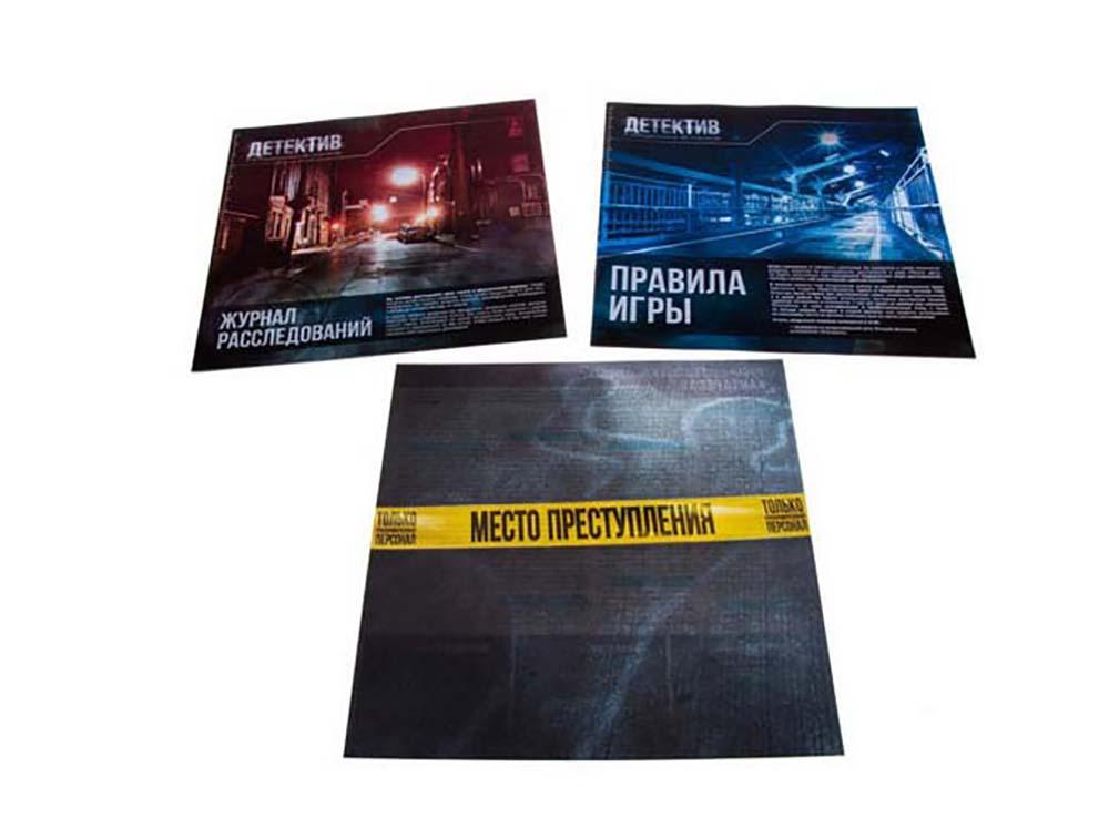 Компоненты настольной игры Детектив: Игра о современном расследовании