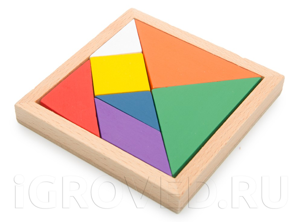 Компоненты настольной игры Танграм (Tangram)