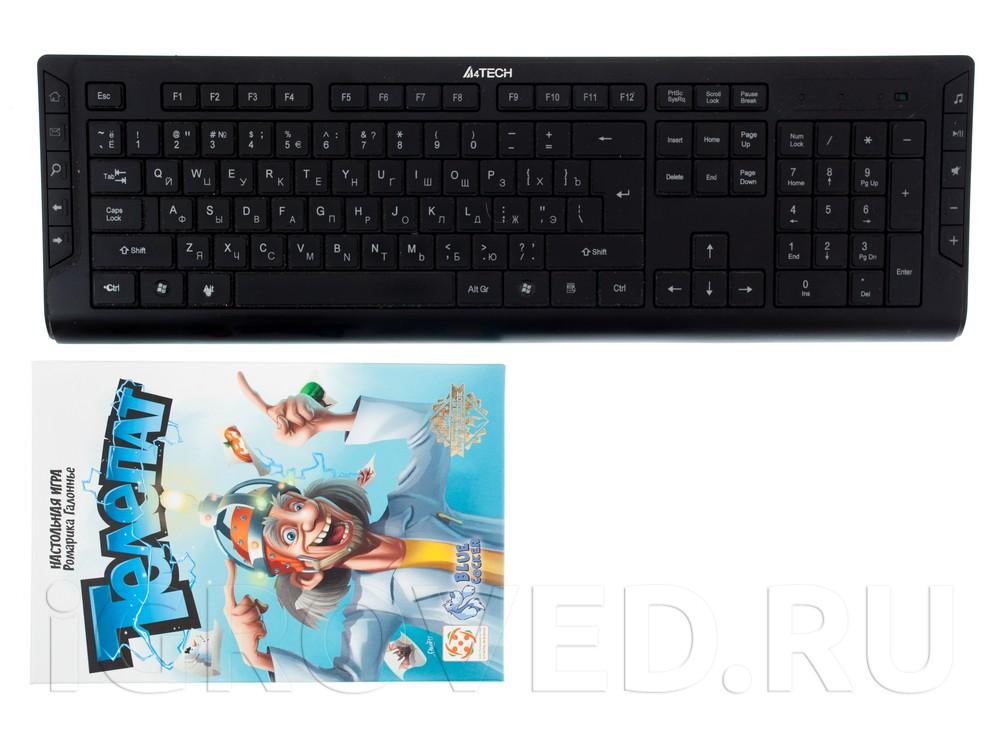 Коробка настольной игры Не Телепат (Yesss!) в сравнении с клавиатурой