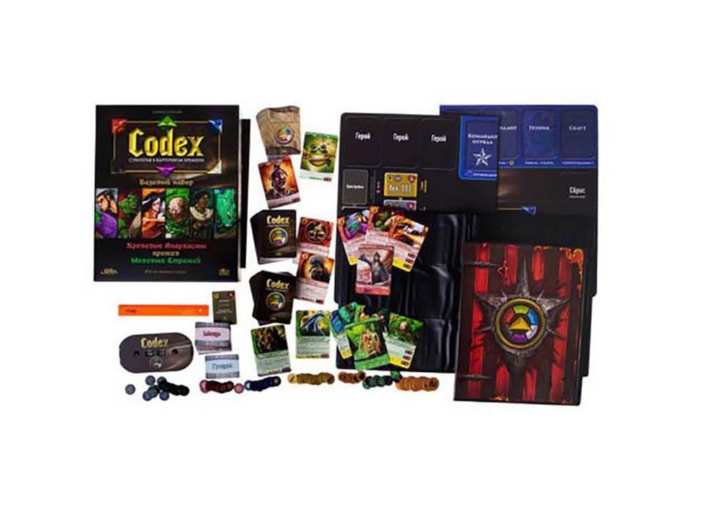 Коробка  и компоненты настольной игры Codex (Кодекс). Стартовый набор