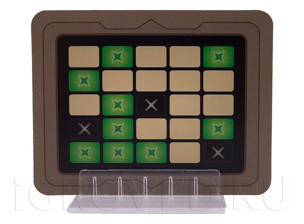Ключ-карта из настольной игры Кодовые имена: Дуэт (Codenames Duet)