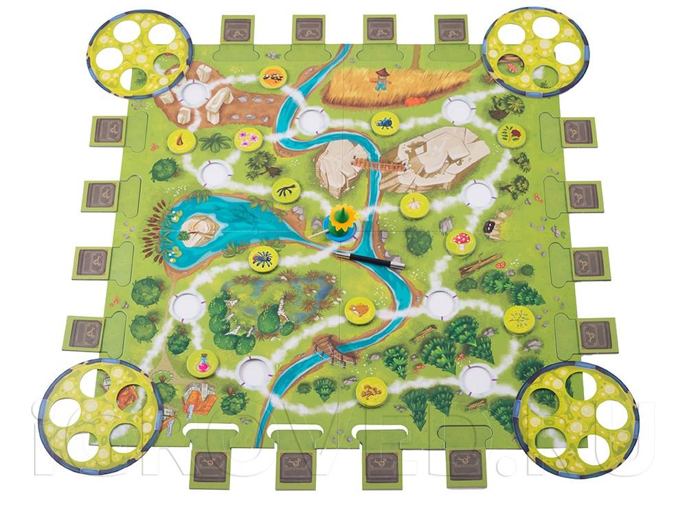 Игровое поле настольной игры Магическая метла (Saus und Braus)