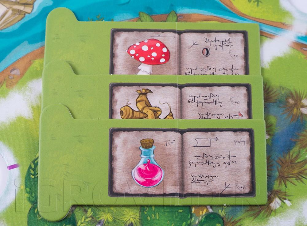 Компоненты настольной игры Магическая метла (Saus und Braus)