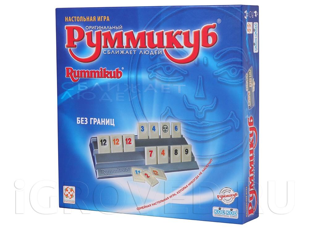 Коробка настольной игры Руммикуб. Без границ