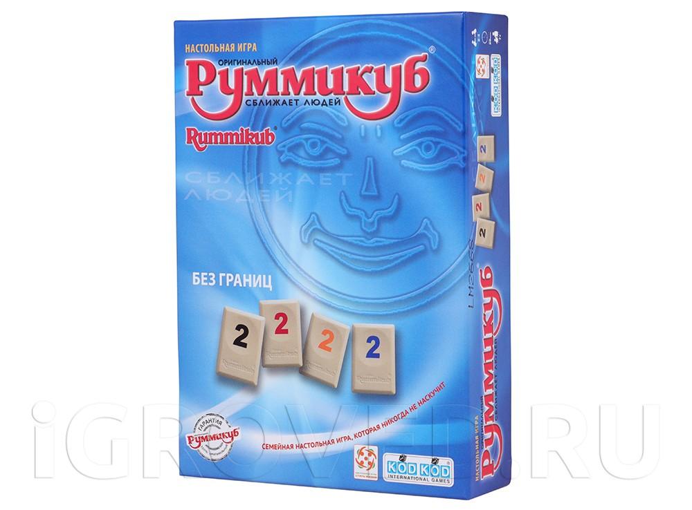 Коробка настольной игры Руммикуб. Без границ (мини)