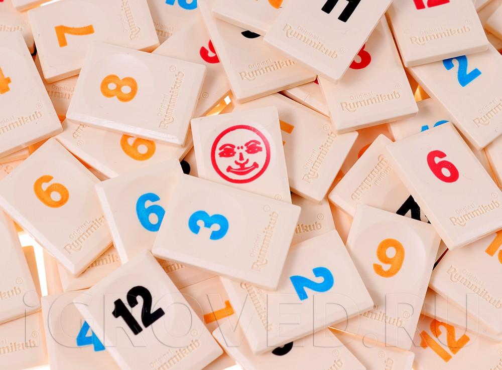Компоненты настольной игры Руммикуб. Без границ (мини)