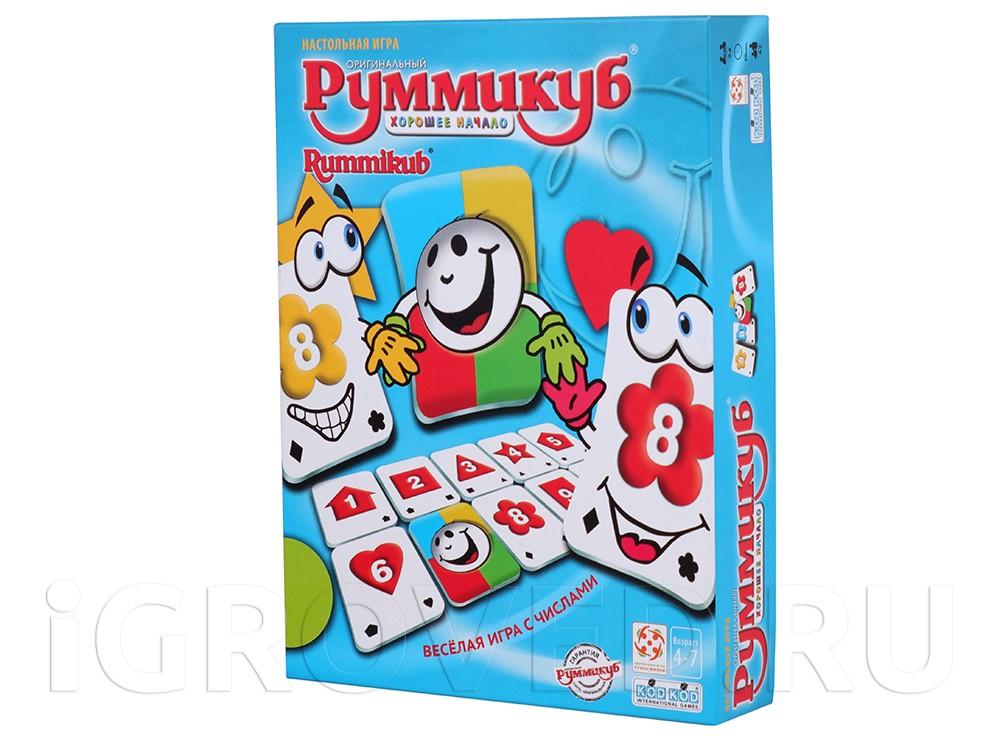 Коробка настольной игры Руммикуб. Хорошее начало