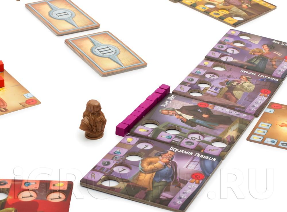Игровой процесс настольной игры Легендарные изобретатели (Legendary Inventors)