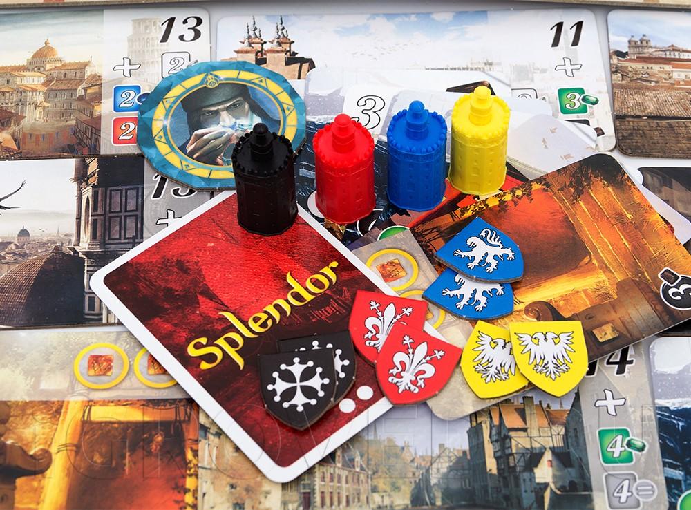 Компоненты настольной игры Роскошь: Города (Cities of Splendor, дополнение)