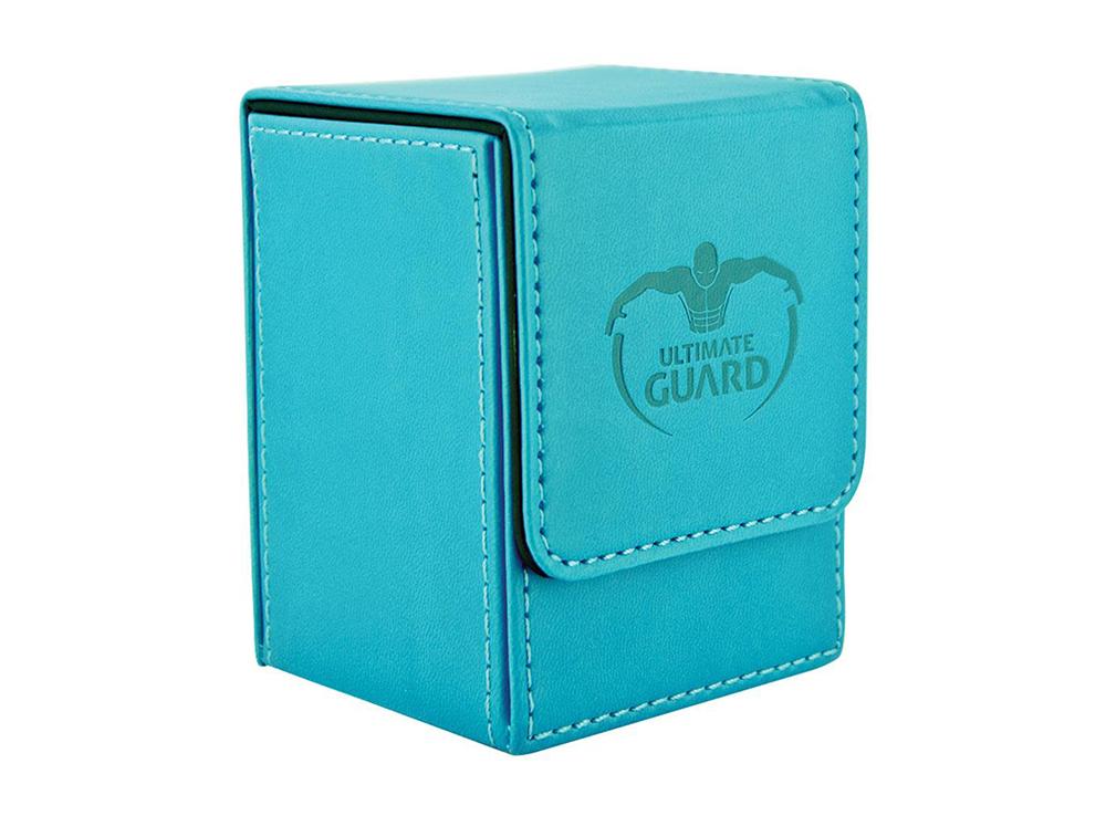 Коробочка Ultimate Guard под кожу синяя (100 карт)