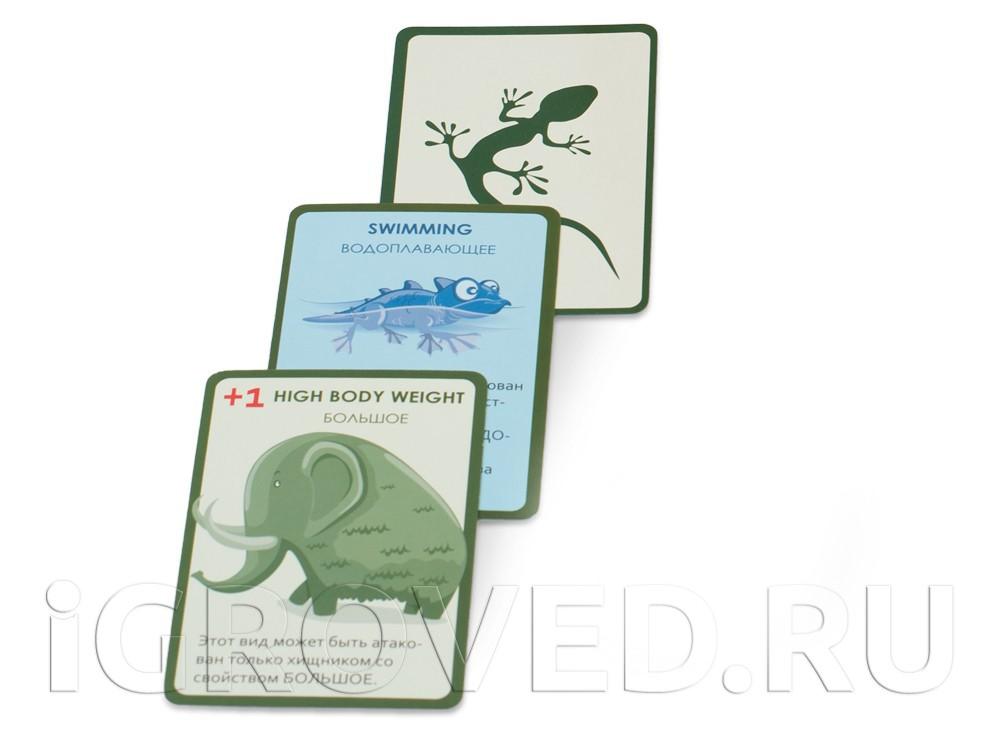 Карты настольной игры Эволюция. Случайные мутации