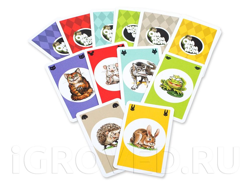 Карточки настольной игры Ом ном ном (Om Nom Nom)